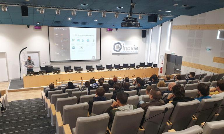 Inovia avec La Manu et l'entreprise Agesys informatique