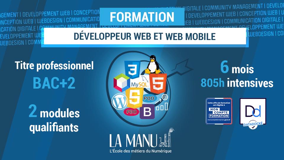 Formation pour devenir développeur web et mobile