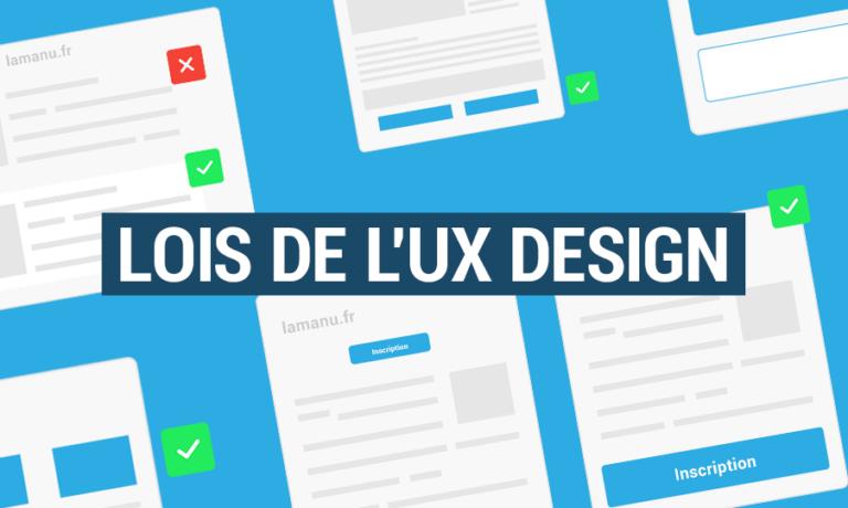 Lois UX Design pour le webdesigner