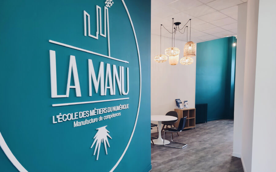 Intérieur de l'école La Manu au Havre