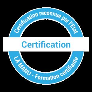 Formation avec certification reconnue par l'Etat