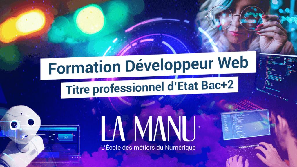 Formation Développeur web et web mobile à l'école La Manu