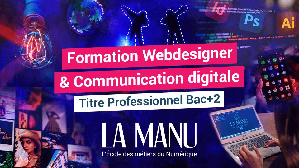 Formation professionnelle Webdesigner et communication digitale