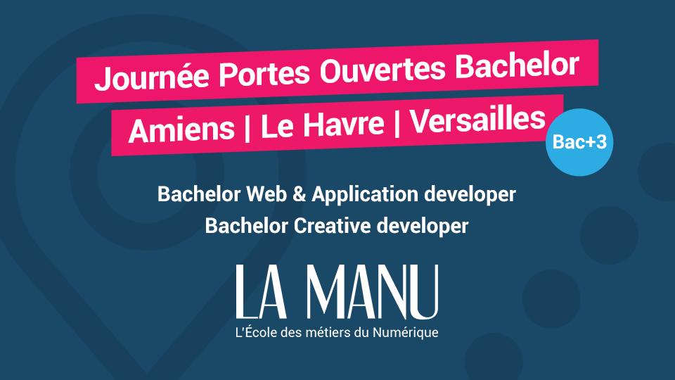 Journées Portes Ouvertes école du numérique La Manu à Versailles Amiens et Le Havre