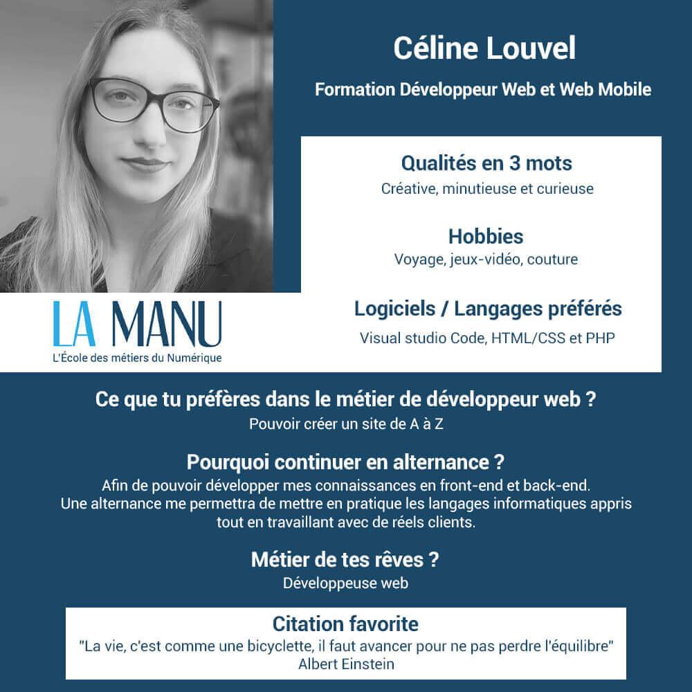 Céline Louvel recherche alternance développement web
