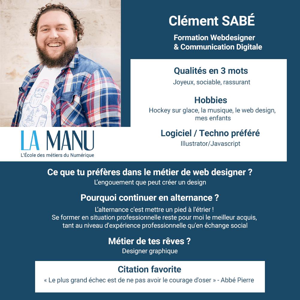 Clément Sabé recherche alternance developpeur web webdesigner design