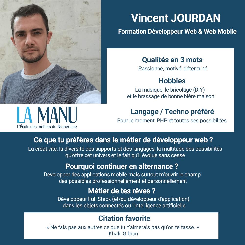Vincent Jourdan alternance développeur web à Amiens