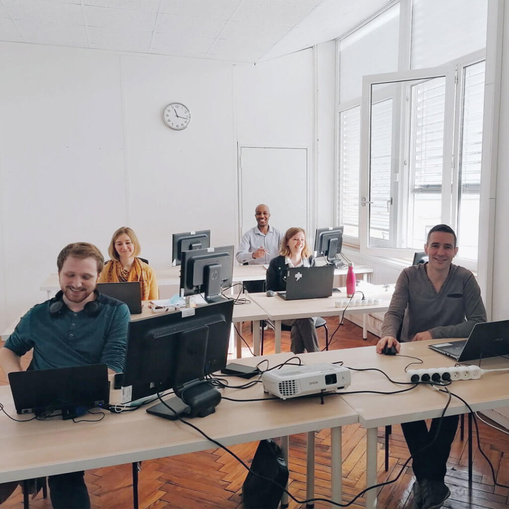 Equipe de l'école numérique La Manu à Amiens