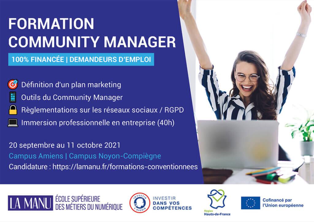 Formation Community Manager en Hauts de France