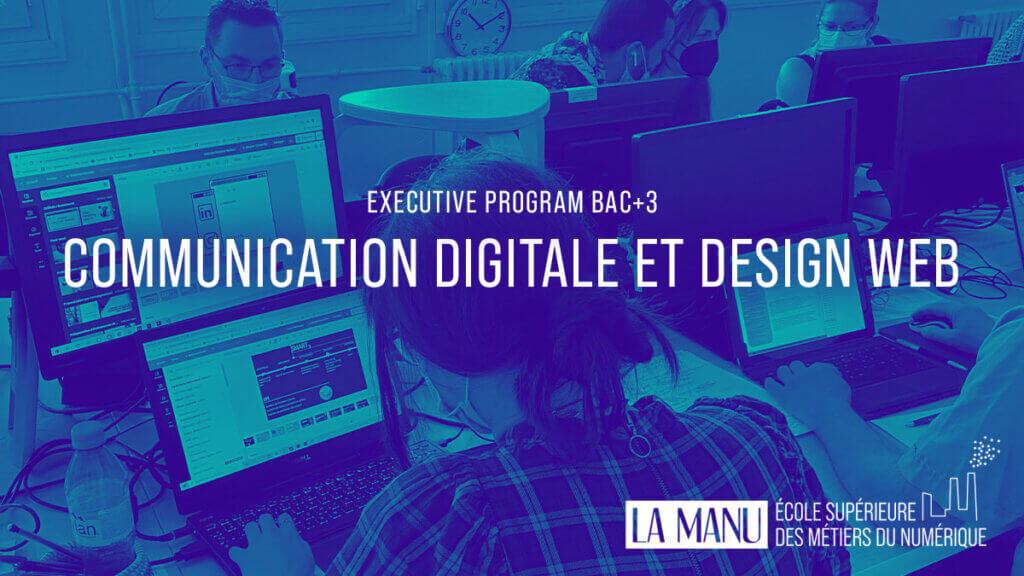 Formation en communication digitale et design web à l'école La Manu
