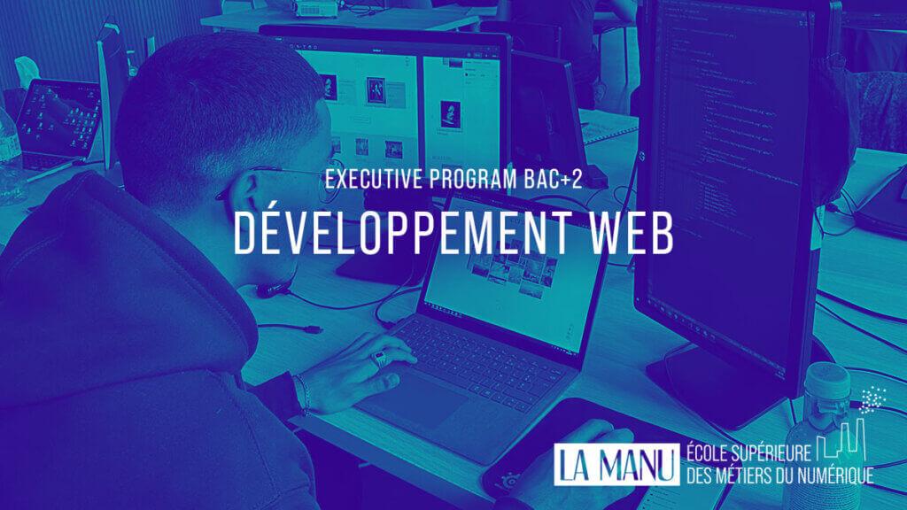 Formation en développement web à l'école La Manu