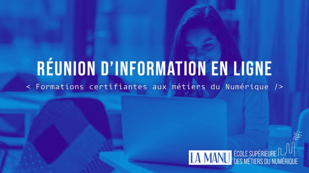 Réunion d'information en ligne pour découvrir les formations au numérique